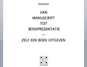 Do 25 april 19:00-21:00 Workshop Zelf een boek uitgeven